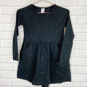 Kids Circo black dress glitter specks pockets M